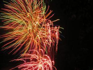 "Feuerwerk zum ""Feiertag der Flämischen Gemeinschaft"" Knokke-Heist @ Strand | Knokke-Heist | Vlaanderen | Belgien"