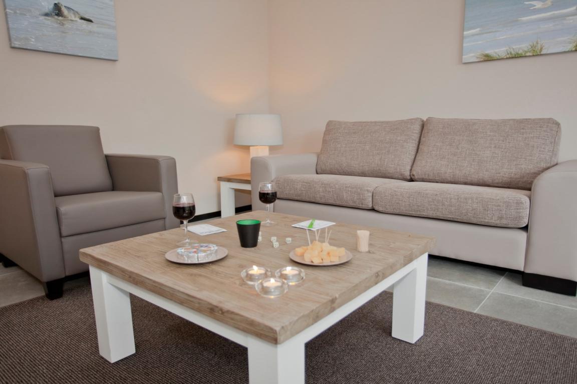 Landal Strand Resort Nieuwvliet-Bad-Wohnzimmer