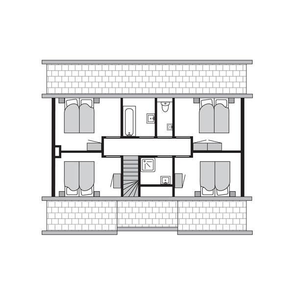 """12-Personen Ferienhaus 12C """"Boerderij"""" - """"Strand-Resort Nieuwvliet-Bad"""""""